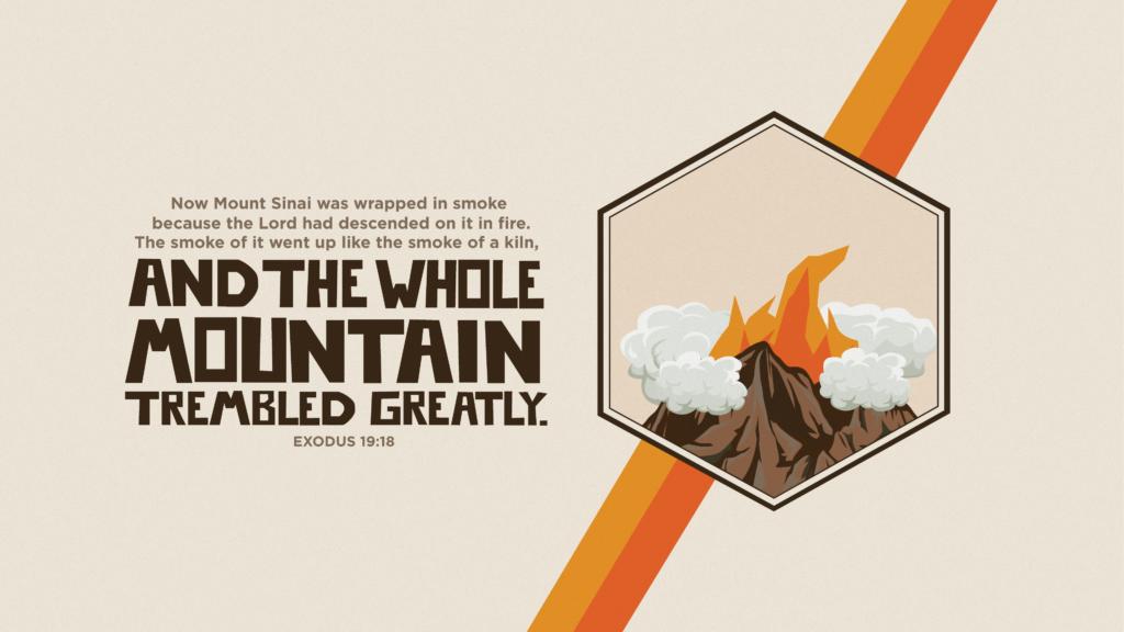 Bible Art Exodus 19-21 Now Mount Sinai was wrapped in smoke